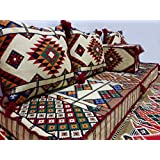 Kelim/Marrakesch Asiento esquinas/Asiento Cojín/Cojín de suelo/saco de asiento/5piezas beige