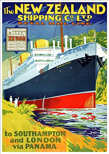 the-new-zealand-shipping-co-ltd-royal-mail-line-wonderful-a4-glossy-art-print-taken-from-a-rare-vint