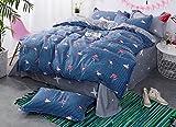 Kexinfan Bettbezug Blatt Kissenbezug Quilt Cover Sets Bettwäsche Set Mit Queensize-Bett Und Volle Twin Bett Bettwäsche Aus 100% Baumwolle, 2023497, Ukdouble