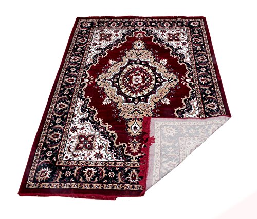 Kuber Industries Home Premium Living Room Valvet touch Carpet rug -(5*7 Feet , Maroon)