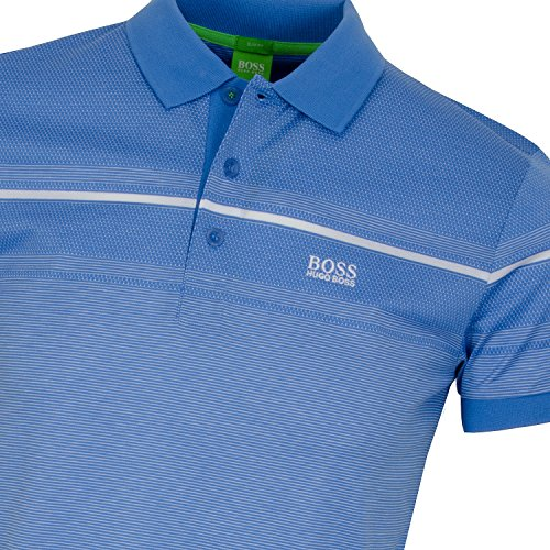 BOSS Green Herren Poloshirt Mittelblau