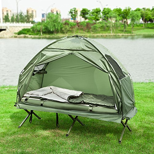 SoBuy® OGS32-GR 1 Person Foldable C&ing Tent with Bed ... : tent with bed - memphite.com