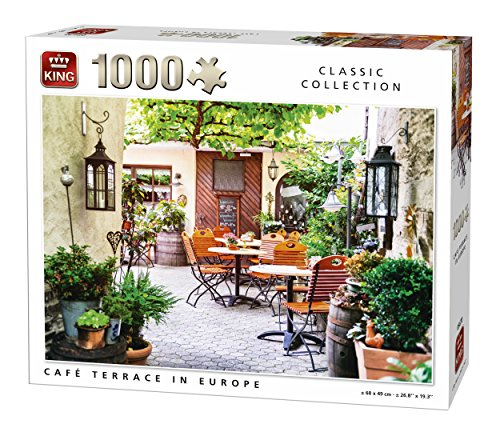 King 5670 Cafe Terrasse in Europa Frankreich Puzzle (1000 Teile) (In Frankreich)