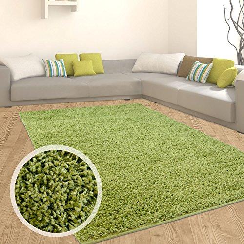 Teppich Shaggy Hochflor Einfarbig Flokati für verschiedene Zimmer Günstig Angebot Grün 300x400 cm