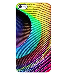ColourCraft Peacock Feather Design Back Case Cover for APPLE IPHONE 4S