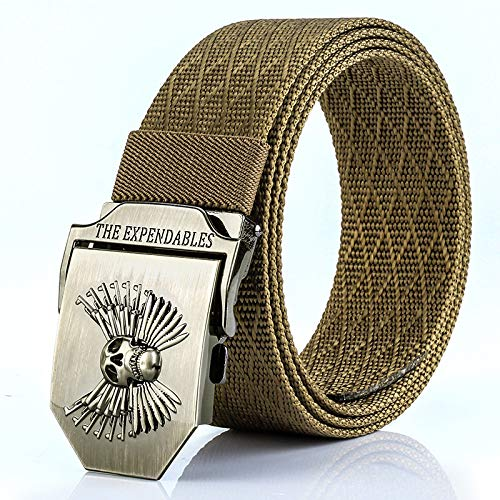 Yian-HYH @ Tactical Belt Nylon Canvas Young Men Students Lisa Buckle Brown Wolf 125 CM