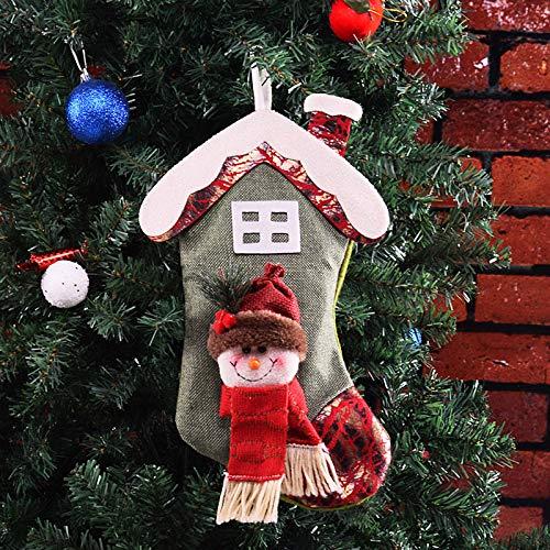 Decorazioni Natalizie Di Cartone.Gysad Tridimensionale Decorazioni Di Natale Modello Di Cartoni Animati Sacchetti In Tessuto Per Regalo Creativo Decorazioni Natale Vintage 35 20cm