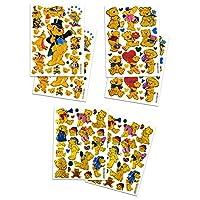 BEAR002 - 6 Sheets Teddy Bear Decorative Scrapbook, Animal Reflective Stickers for Kids - Size 4 X 5.25 Inch./sheet by Sticker108
