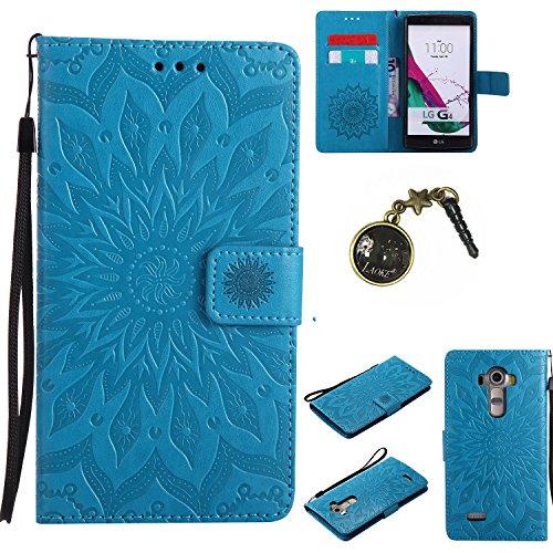 Preisvergleich Produktbild für LG G4 Hülle,Hochwertige Kunst-Leder-Hülle mit Magnetverschluss Flip Cover Tasche Leder [Kartenfächer] Schutzhülle Lederbrieftasche Executive Design +Staubstecker (7FF)