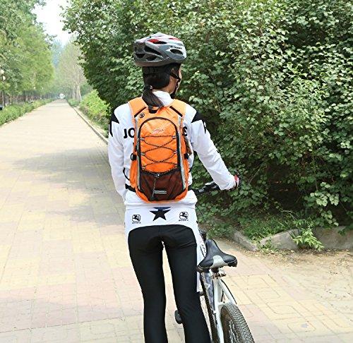 Diamond Candy Im Freien Wandern Klettern Rucksack Freizeit Ultraleichte Wasserdichte Outdoor Wanderrucksäcke Radfahren Reiten Reisetaschen, 45 x 25 x 15 cm, 15 Liter Taschen Orange