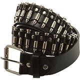 Accessoryo - Cintura nera stile cowboy, con sfere color argento