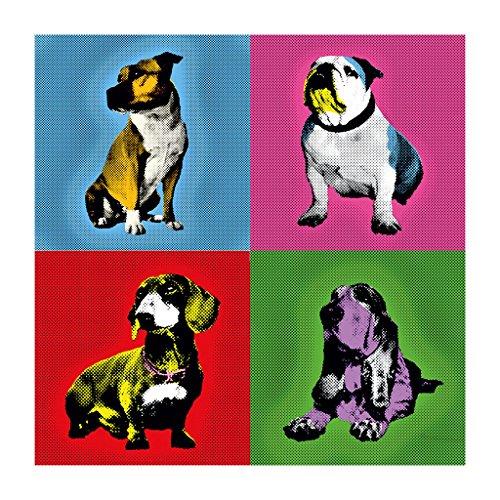 Great British Pub Dogs Andy Warhol Bulldog Dachshund Staffie Basset Hound Women's Sweatshirt White