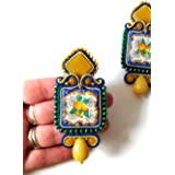 orecchini in ceramica, ceramica di caltagirone, orecchini siciliani, orecchini amalfi, orecchini pendenti, orecchini limoni