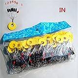 Mlec Tech 100gruppo 700PCS spazio Bean pesca accessori pesca Tackle S/M/L per pesca alla carpa scatola attrezzi