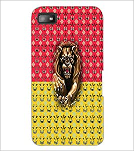 PrintDhaba Lion D-5632 Back Case Cover for BLACKBERRY Z10 (Multi-Coloured)