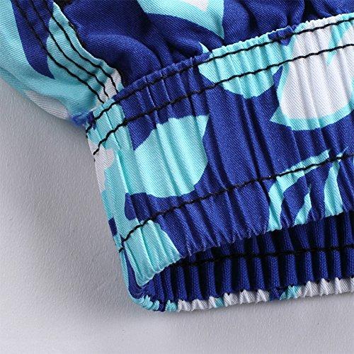 Shorts da Mare Uomo Leisure Stampate Spiaggia Pantaloncini Corti Calzoncini Viola Blu