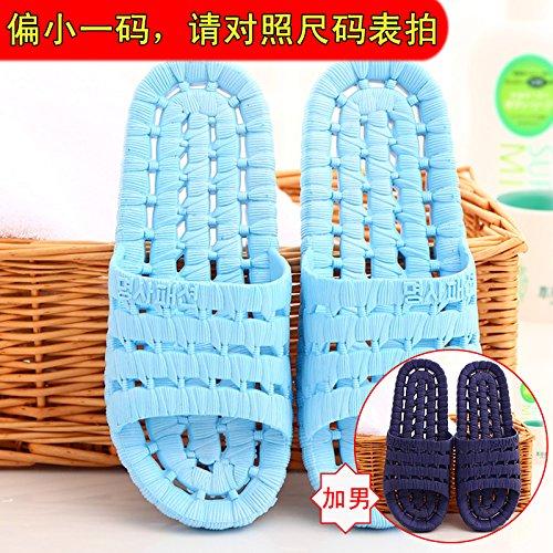 DogHaccd pantofole,Pantofole estate donna coppia piani cool pantofole antiscivolo soggiorno di casa con bagno en-suite estate fondo morbide ciabattine Il Blu + blu scuro1