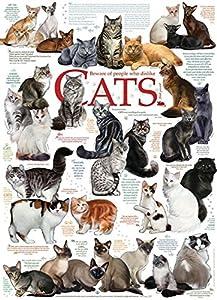 Cobblehill 57194 MO 1000 Rompecabezas de Citas de Gato, Varios