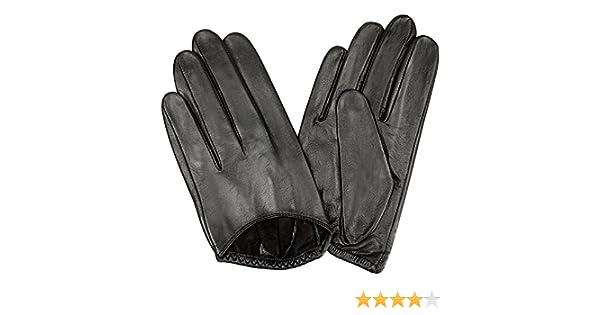 2ef3aff2ff5d0e WARMEN Handschuhe Sexy klassische für Damen Leder ohne Rücken Gr. 6.5,  schwarz: Amazon.de: Bekleidung