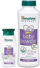 Himalaya BabyCare Baby Powder, 400g with Baby Bath, 100ml