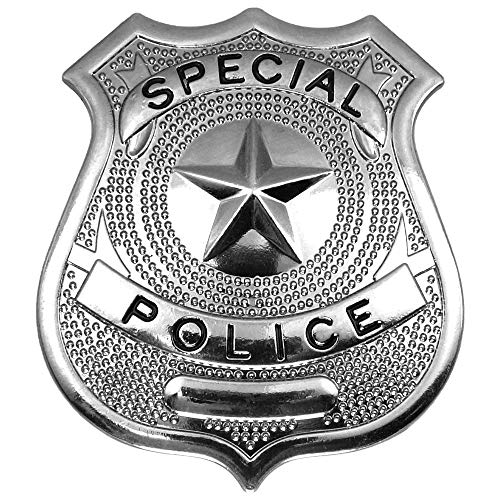 German Trendseller® - 6 x Dienstmarke - Polizei ┃ Polizeimarke ┃ Fasching ┃ Karneval ┃ Special Police Cop | 6 Stück (Cop Und Gangster Kostüm)