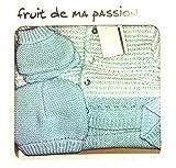 COFFRET NAISSANCE bebe 4 pieces BRASSIERE Bleu idee cadeau 0 a 3 mois CN4pBR-BEBCPULLRY NISSANOU