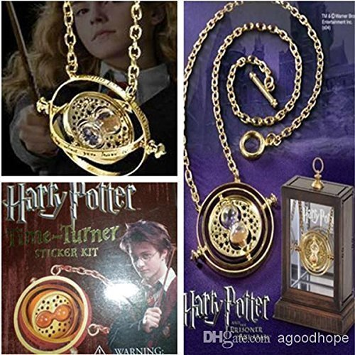 Yellow Chimes Combo 2 Pcs Famous Harry Potter Deathly Hallows Time Turner Pendants for Girls and Women