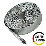 1m Aluminium Hitzeschutzschlauch - 20mm Innendurchmesser für Leitungen, Schläuche und Kabelbäume - Hitzebeständig bis 550°C