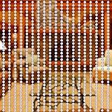 Yosoo Rotolo di perline da 10m, per fai-da-te, tenda di perline, zanzariera, fili di perline, pannello di separazione, decorazione per porta di ingresso, porta interna e esterna, finestra coloré
