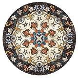 BAGEHUA Nordic Ethnische Teppich Wohnzimmer Teppich Runde Teppich Schlafzimmer Nachttisch Bodenmatte Waschen, 120 X 120 cm