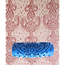PETSOLA Rodillos De Pintura Flor Pantalla Relieve Decoración Pared Bricolaje 15cm