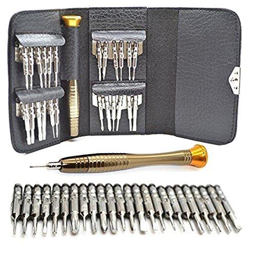 MMOBIEL 25 in 1 Reparatur Profi Tool Kit inkl Pentalobe, Torx, Phillips Schraubenzieher für Smartphone/iPad/iPod/Laptop/Tablet PCs/MacBook - Pc-tool-kit