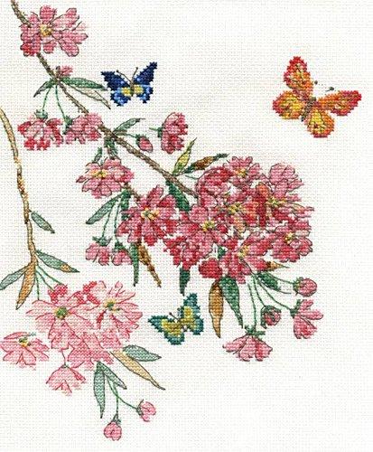 Butterfly Blossom DMC-Kit per ricamo a punto