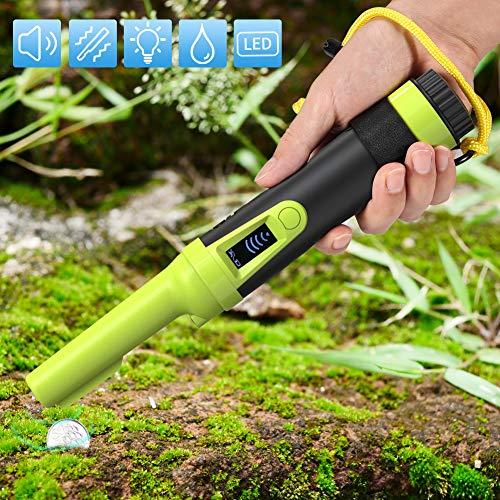 Pin Pointer Metalldetektor, Volador LCD-Anzeige/Audio/Vibration Voll Wasserdichter Hoher Empfindlichkeit Pro Metallsuchgerät für Erwachsene/Kinder