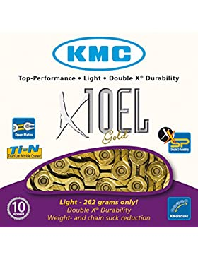 KMC Chain BXEL10T4 - Cadena de ciclismo, color dorado