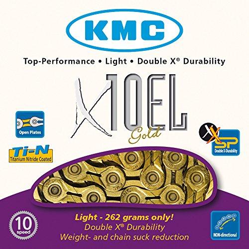KMC Fahrradkette X10el Ti-n Gold, 1/2