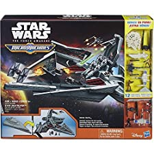 DISNEY STAR WARS 2015 MICROMACHINES STAR DESTRUCTEUR BONUS 12 FIGURINES FORCE AWAKENS