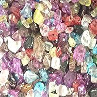 20g Mélange perles de puce de verre de 4–7mm–environ 70perles–A4847
