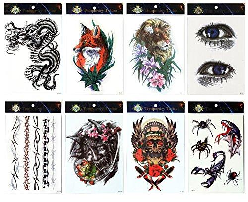 tattoo-impermeable-et-non-toxique-de-style-8pcs-melange-des-autocollants-faux-de-tatouage-de-temp-da