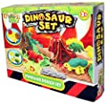 Kandy Toys Kids Dough Molding Modelling Dinosaur Play Set