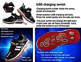 Mr.Ang LED Chaussures, Printemps-Été-Automne Respirante Lumineuse Chaussure USB Rechargeable enfant LED Basket Clignotants Chaussures