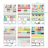 Pack di Sticker in Vinile PVC adesivi per taccuino NOTEBOOK Calendario 4368 a