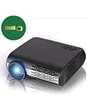 Dinshi Maxx 4k 2k Full HD 1080P 4200 Lumen Led Projector with HiFi Speaker (HDMI/USB/VGA/AV Ports)