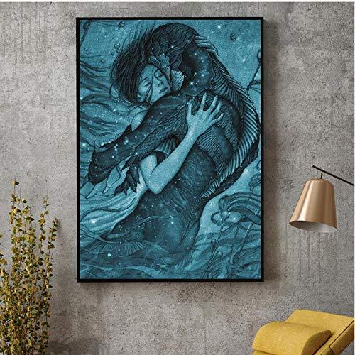 cptbtptp Die Form von Wasser Film Kunst leinwand Stoff Poster drucken für wandbilder für die Dekoration der room40x60cm -