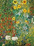 1art1 60775 Gustav Klimt - Bauerngarten Mit Sonnenblumen, 1905-06 Kunstdruck 80 x 60 cm