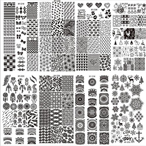 Hunpta DIY Vernis à ongles Modèle de styles de dernière 32 Art Stamp plaques stamping Autocollant