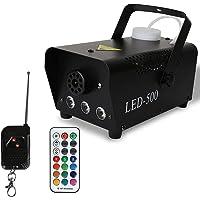 Valleitia Nebelmaschine 500W Mini DJ effekt Rauchmaschine Schnelle Generierung von Nebel 13 farbige 3 LEDs mit LED…