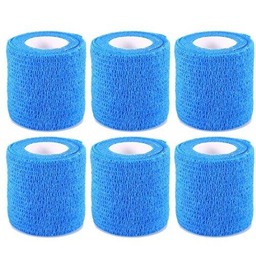 6-rollos-vendaje-autoadhesivo-vendaje-elastico-de-deportes-azul-5-cm-46-m