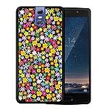 WoowCase Doogee BL7000 Hülle, Handyhülle Silikon für [ Doogee BL7000 ] Blumen Handytasche Handy Cover Case Schutzhülle Flexible TPU - Schwarz