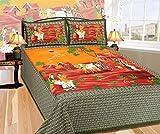 Renown Exclusive Sanganeri Jaipuri Green...